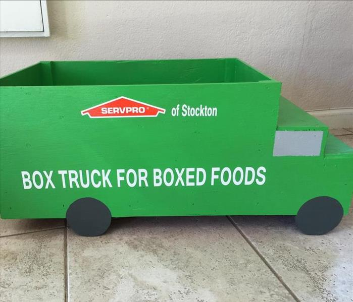 SERVPRO Box Trucks Food Collection Receptacles