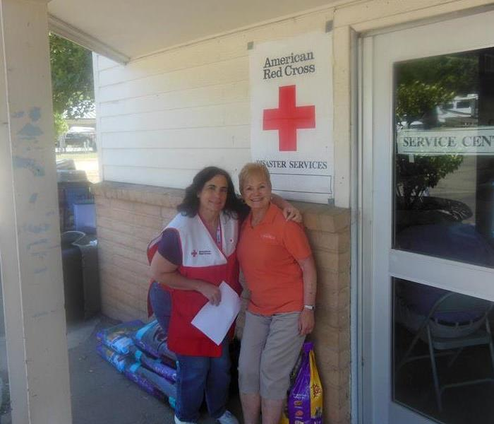Working with the Red Cross.