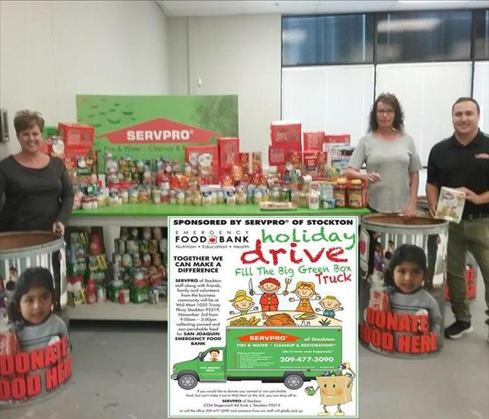 Community Another SERVPRO of Stockton Holiday Food Bank Drive