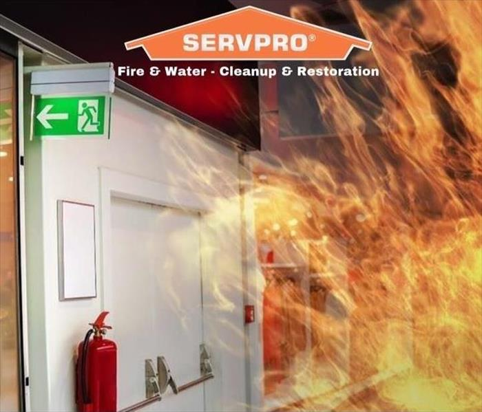 Fire Illustration with SERVPRO logo